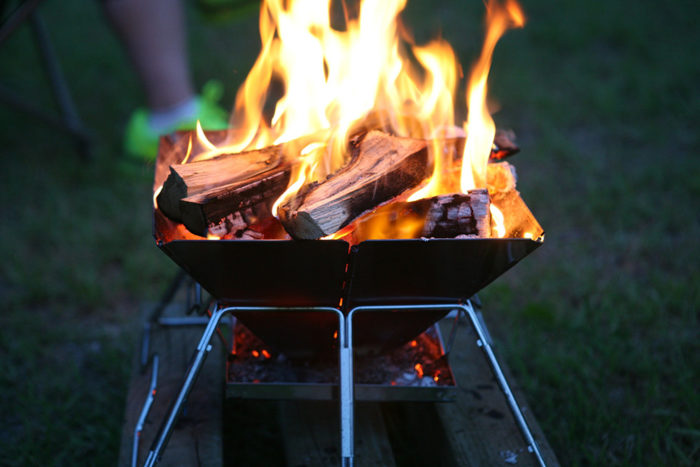 Many portabe fire pits leave no trace which makes them good for camping and patio use.